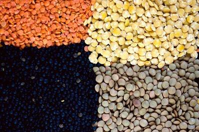 Algunas variedades de lenteja. oughttobeworking.blogspot.com