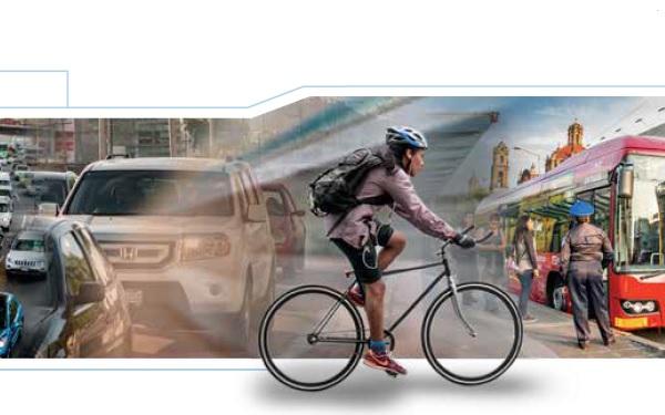 Collage de imágenes de movilidad en las ciudades