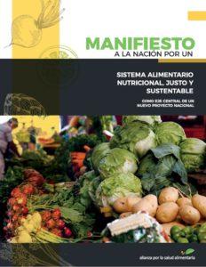 Portada de nuestro Manifiesto a la Nación por un Sistema Alimentario Nutricional, Justo y Sustentable (SANJS)