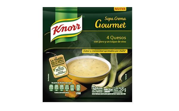 Sobre de sopa crema gourmet 4 quesos de Knorr