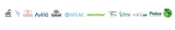 Logos de la organizaciones de la sociedad civil que presentaron el seguimiento a las propuestas de los candidatos a la Presidencia de México en materia de cambio climático