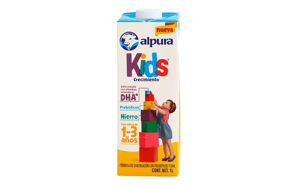 Leche Kids, crecimiento 1 a 3 años, de Alpura (tetrapack de 1 litro)