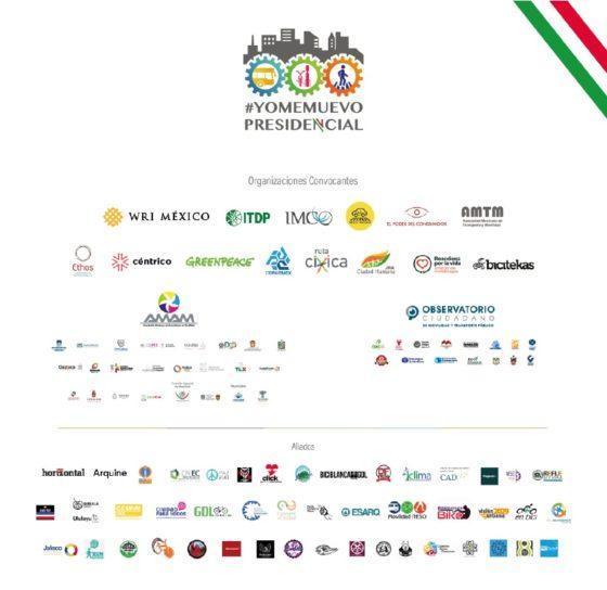 Organizaciones convocantes y aliados de la iniciativa #YoMeMuevo