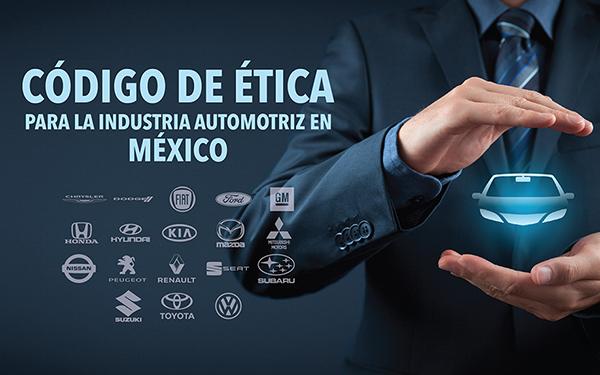 Ilustración sobre el documento Código de Ética de la Industri Automotriz que se hizo llegar