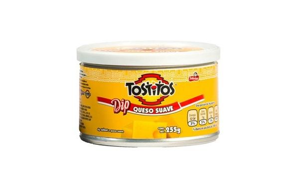 Lata de Dip queso suave Tostitos de Sabritas