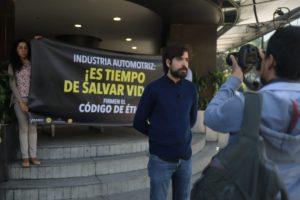 Imagen de acción civil con declaraciones de Julián Lomelín, coordinador de Proyectos de México Previene