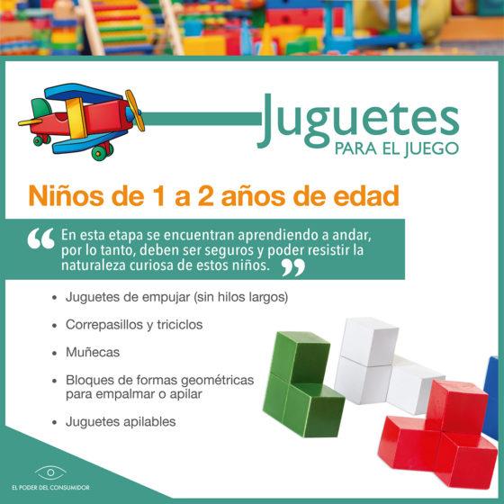 Infografía Guía de juguetes para niñxs de 1 a 2 años