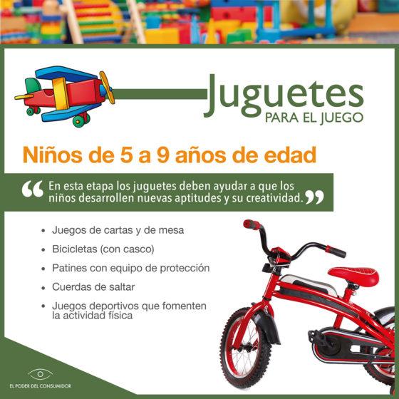 Infografía Guía de juguetes para niñxs de 5 a 9 años