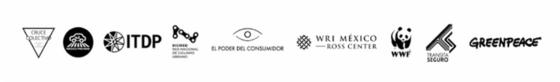 Logos de las organizaciones de la sociedad civil que participaron en el Desafío Modal 2018 de la Ciudad de México