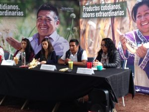 Víctor Manuel Rodríguez, de Producto del Campo Ololique en Tlalpan, compartió su experiencia como productor en la CDMX y vendedor de sus productos en el Mercado Alternativo de la alcaldía de Tlalpan