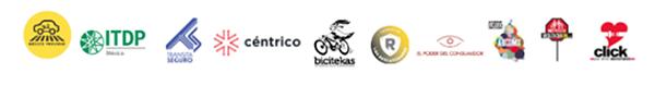 Logos de las organizaciones sociales que con la ofrenda de muertos móvil urgimos a diputados y senadores a aprobar en este periodo legislación sobre seguridad vial