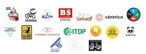 Logotipos de las organizaciones sociales firmantes de este comunicado