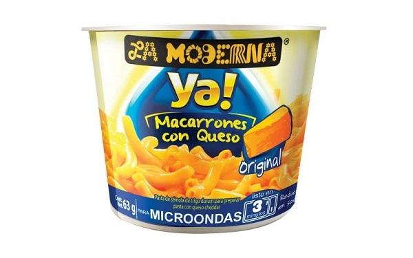 Ya! Macarrones con queso de La Moderna (empaque con 63 gramos)