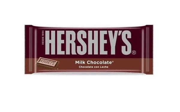 Barra de chocolate con leche Hershey´s (empaque 40 gramos)