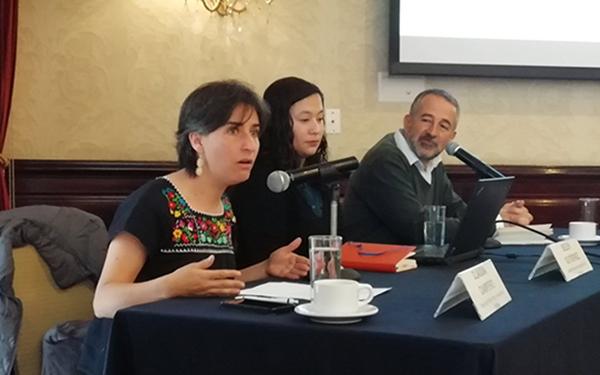 Conferencia de prensa de la presentación de los resultados de la encuesta