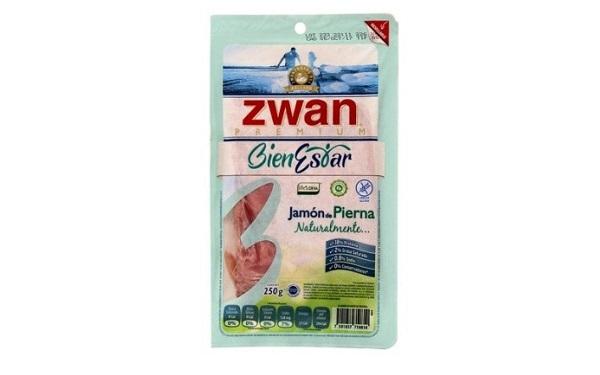 Jamón de pierna BienEstar de Zwan (empaque de 250 gramos)