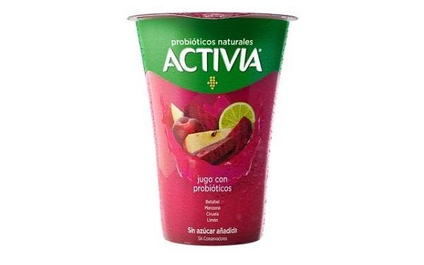 Activia jugo de betabel con probióticos (envase con 400 mililitros)