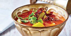 Sopa de chayote con chile guajillo