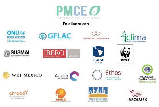 """Logos de las organizaciones convocantes al foro """"La Urgente Transición Energética en México: Acciones Necesarias para Cumplir con el Acuerdo de París"""", llevado a cabo en la Ciudad de México el 27 de febrero de 2019"""
