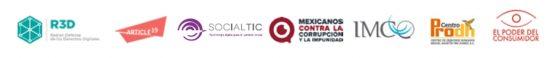 Logos de las organizaciones civiles que emitieron este comunicado