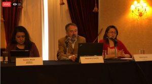 Presentación en conferencia de prensa de los reportes recibidos en la plataforma Mi Escuela Saludable de presencia de comida y bebidas chatarra en escuelas de México