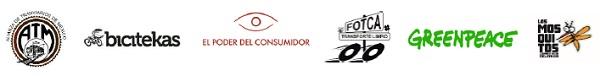 Logos de las organizaciones civiles convocantes e integrantes de la Coalición Cero Emisiones