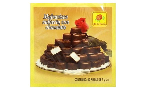 Malvaviscos cubiertos con chocolate de la Rosa (caja con 350 gramos)