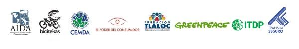 Logos de organizaciones que integran el Observatorio Ciudadano de la Calidad del Aire (OCCA) y aliados