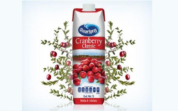 Jugo de arándano Cranberry Classic de Ocean Spray (envase de 1 litro)