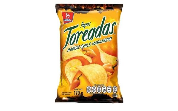 Papas Toreadas sabor chile habanero de Barcel (bolsa de 170 gramos)