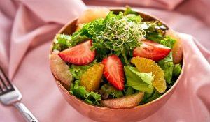 Ensalada de cítricos con vinagreta de vainilla