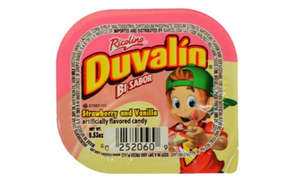 Duvalín Bi de Ricolino sabor vainilla y fresa (pieza 15 gramos)