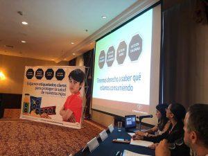 Presentación en conferencia de prensa de la campaña Exijamos etiquetado claros en México