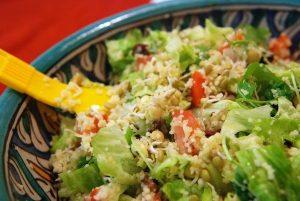 Ensalada de couscous con aderezo de guanábana