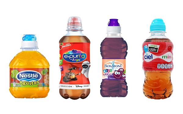 Agüitas para niños de Nestlé, Epura, Bonafont y Ciel (botellas de 300 a 330 mililitros)