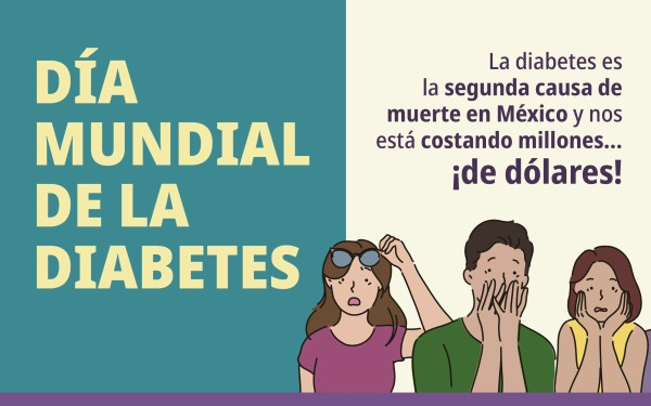 Banner con leyenda Día Mundial de la Diabetes