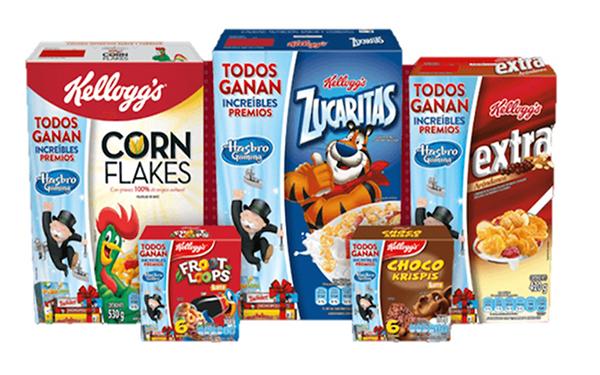 Varios cereales para niños de Kellogg´s