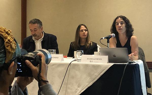 Conferencia de prensa de presentación del estudio sobre los resultados del etiquetado frontal de advertencia en Chile