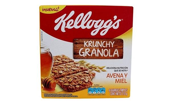 Caja de Barritas Krunchy granola con avena y miel de Kellogg's