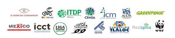 Logos de organizaciones integrantes del Observatorio Ciudadano de Calidad del Aire (OCCA)