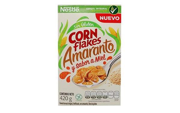 Corn Flakes Amaranto y Sabor a Miel de Nestlé (420 gramos)