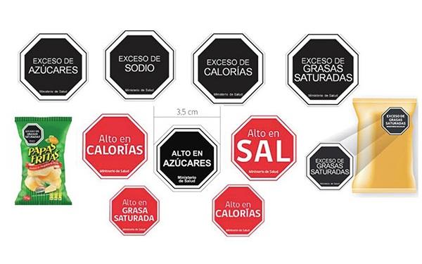 Etiquetado de advertencia usado en Chile