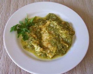 Huevo con salsa de guaje
