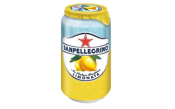 Limonata Sanpellegrino (bebida carbonatada con jugo de limón concentrado, 330 mililitros)
