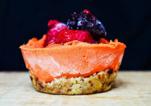 Mini pie de mamey