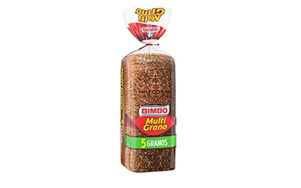 Pan Bimbo Multigrano 5 granos (paquete de 610 gramos)