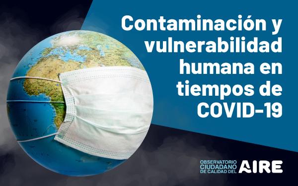 Banner del webinar Contaminación y vulnerabilidad humana en tiempos de COVID-19, organizado por el OCCA