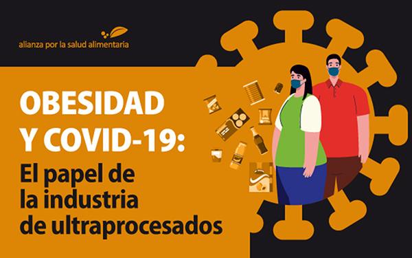Banner del webinar Obesidad y covid-19: El papel de la industria de ultraprocesados