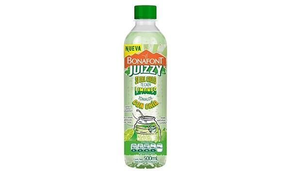 Bonafont Juzzy, bebida con jugo de limón y chía (envase con 500 mililitros)