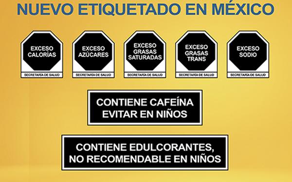 Octágonos del nuevo etiquetado en México
